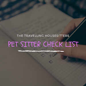 Pet Sitter Check List