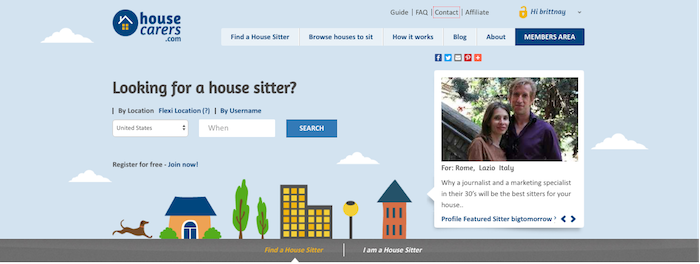 House Carers House Sitting Web Site Review