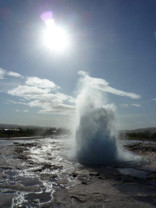 Haukadalur Geyser on the Golden Circle Iceland