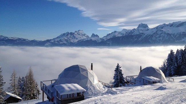 Luxury Eco Pods with Breathtaking Views of the Swiss Alps Switzerland