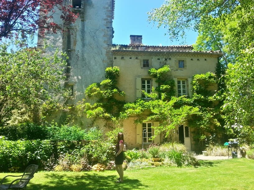 Amy at the chateau in France
