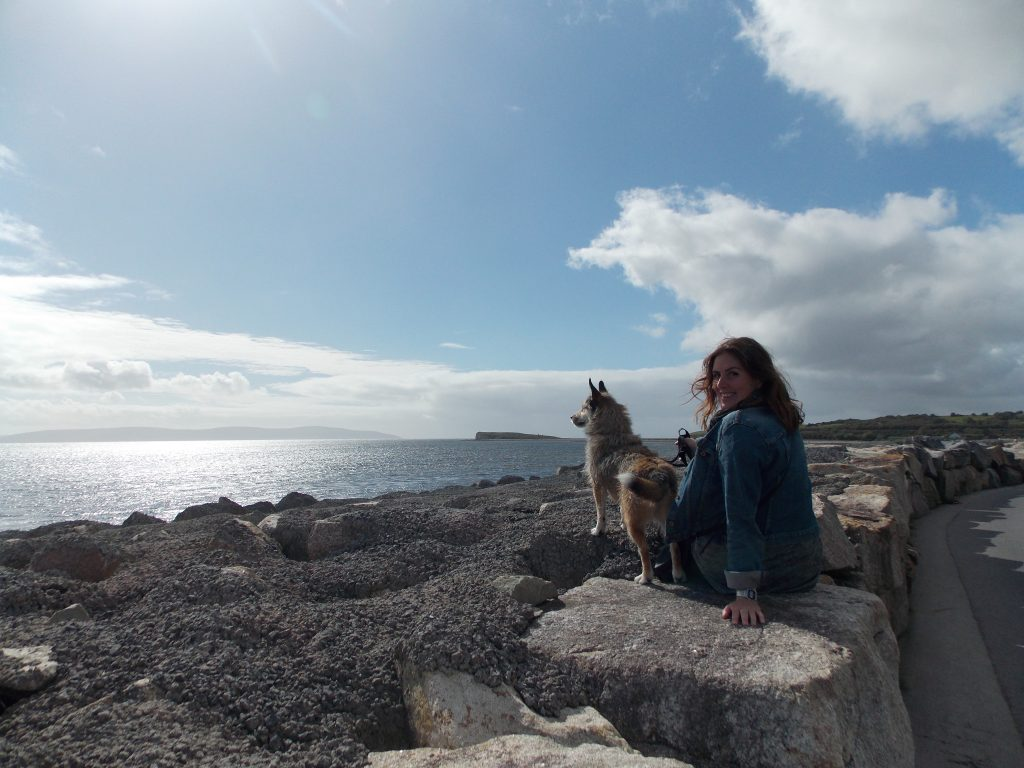 Amy with Mac in Galway