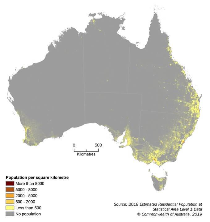 Australia-population-density-map